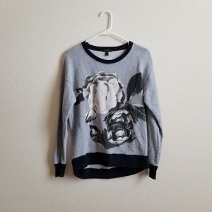 J. Crew Oversize Exploded Floral Sweatshirt XS